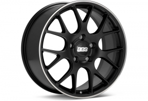BBS CH-R Matt Black Wheel w/ Stainless Lip - 20x9