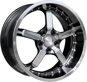 CD20 Iridium Wheel - Black With Machined Lip & Face - 20 x 10