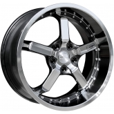 CD20 Iridium Wheel - Black With Machined Lip & Face - 20 x 8.5