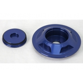 LSR Camaro Blue Billet Front Strut Retainer and Nut Covers